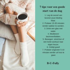 infographic 7 tips voor een goede start aan de dag