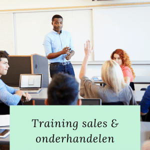 training sales en onderhandelen